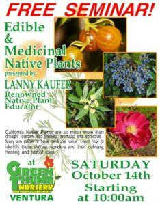 Edible and Medicinal Native Plants Seminar @ Green Thumb Nursery | Ventura | California | United States
